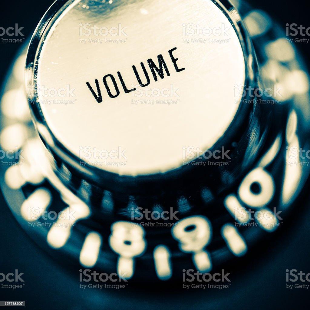 Volume Knob on Eletric Guitar, Vintage Mood stock photo