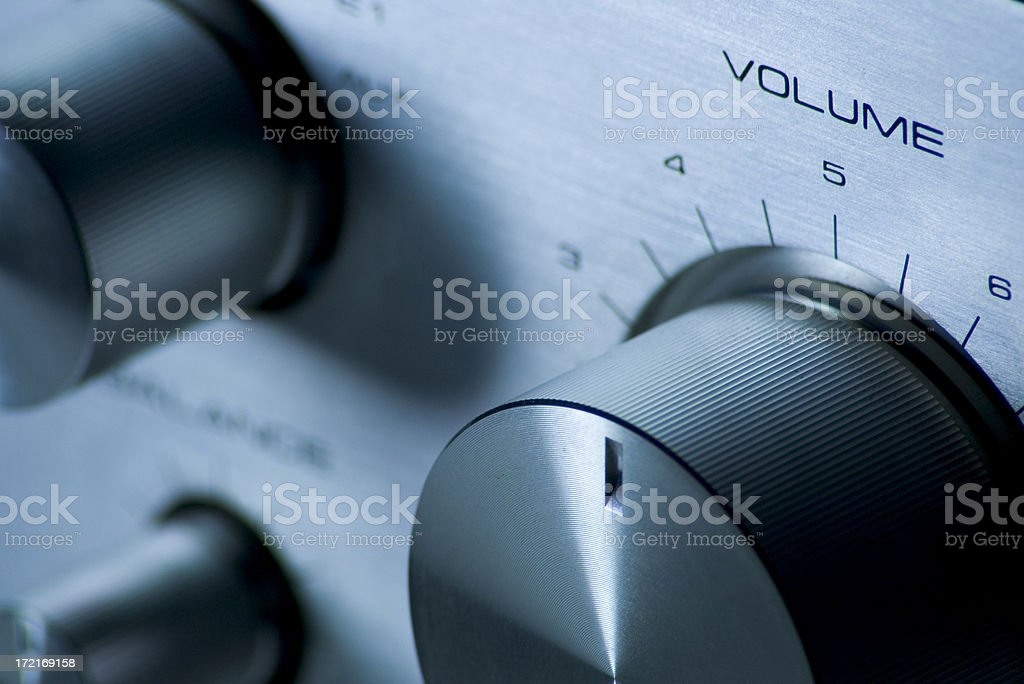 Volume Knob royalty-free stock photo