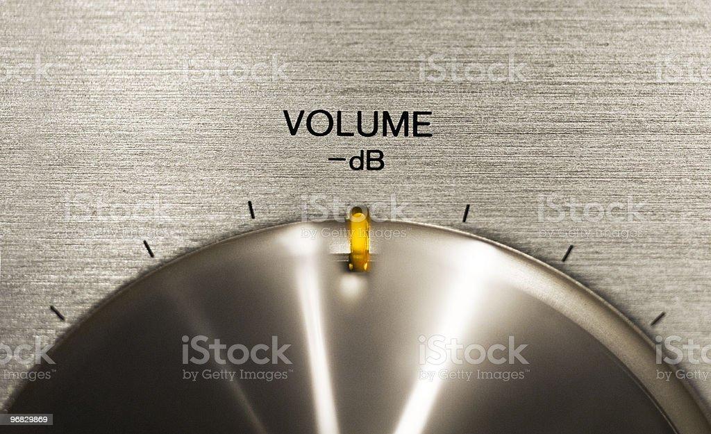 volume push button on a hi-fi stock photo
