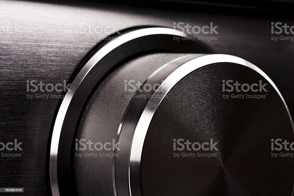 Volume rotary button royalty-free stock photo