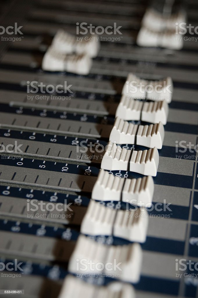 volume slide controls stock photo