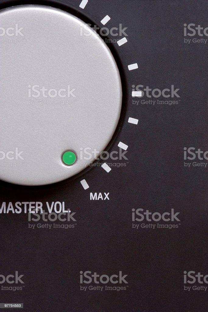 Volume switch on maximum stock photo
