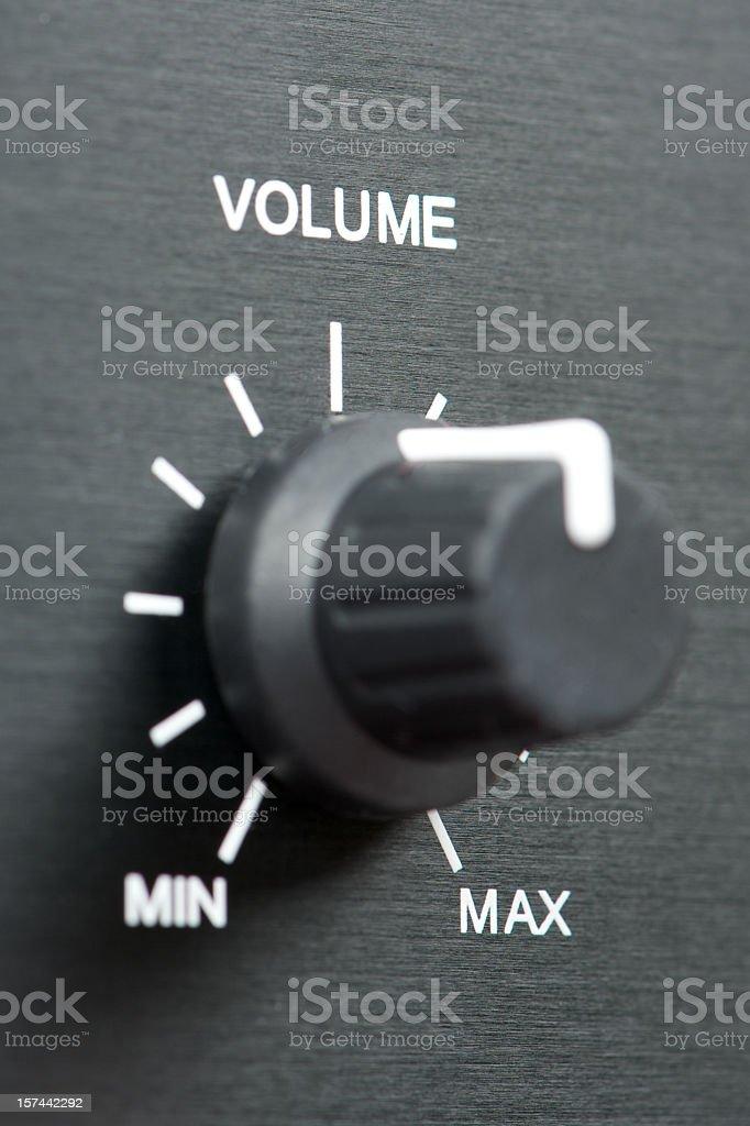 Volume switch stock photo
