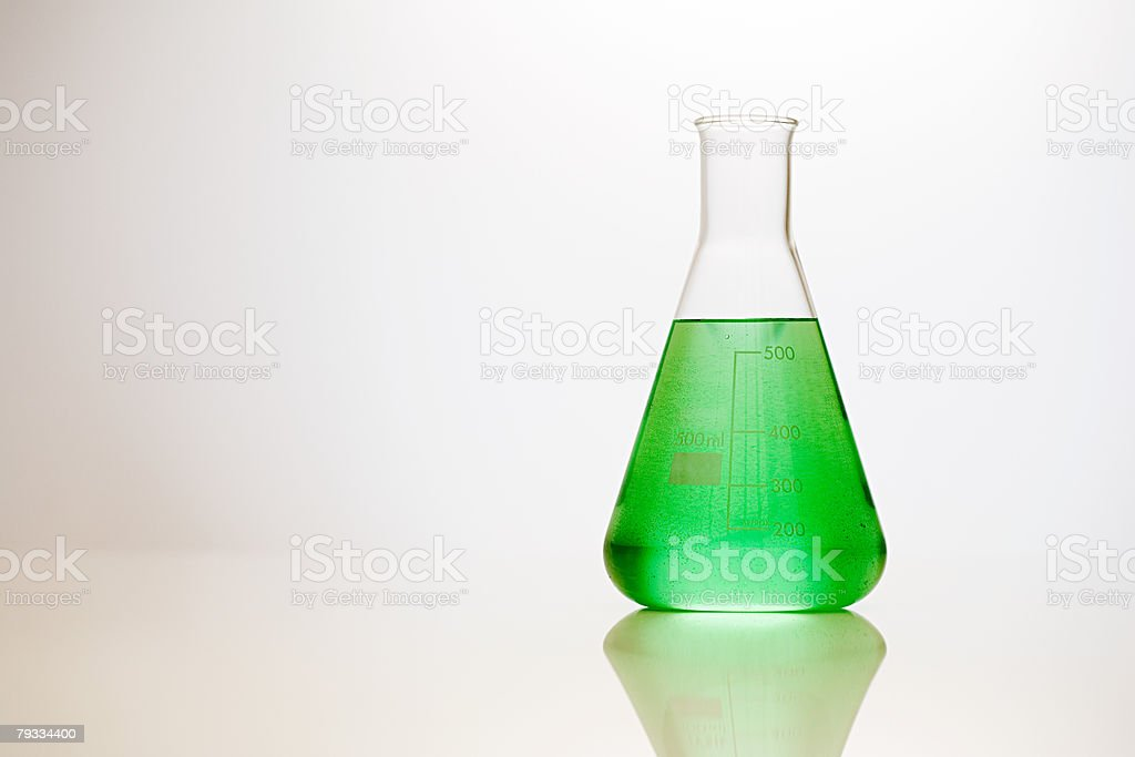 Volumetric flask stock photo