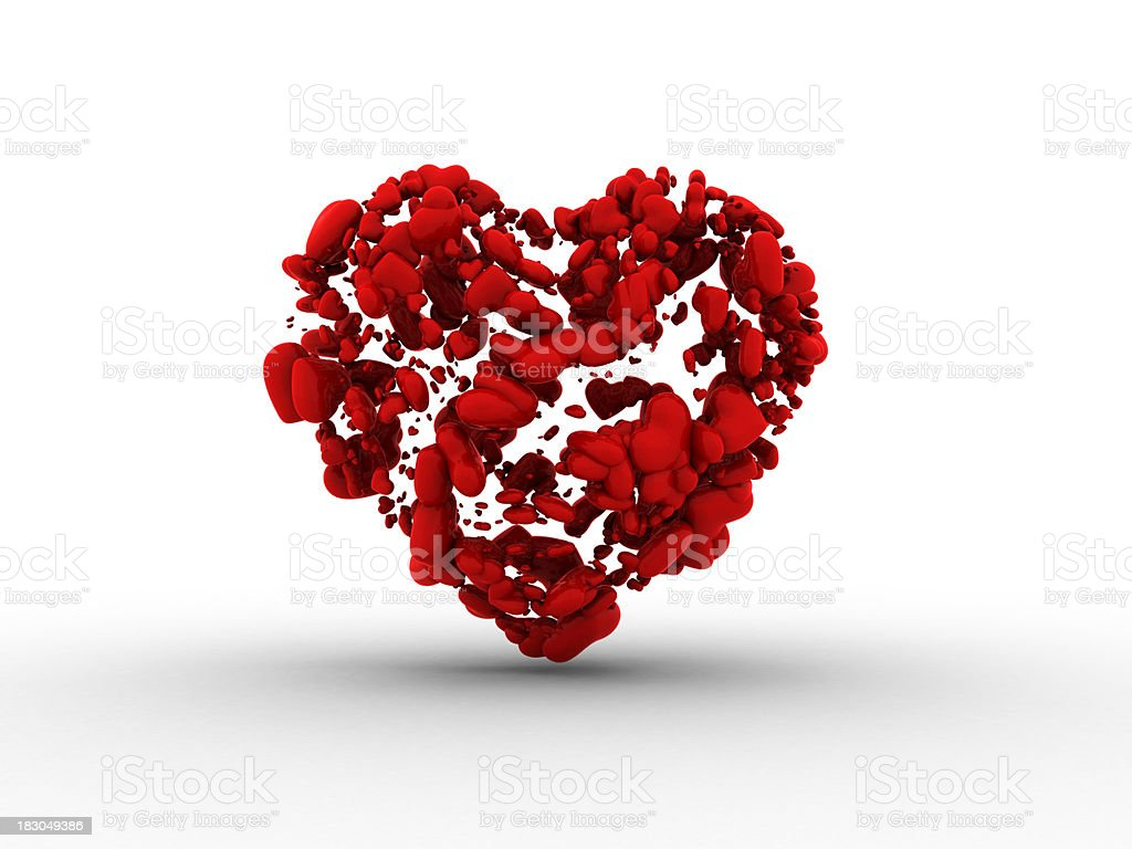 Volumetric Heart stock photo