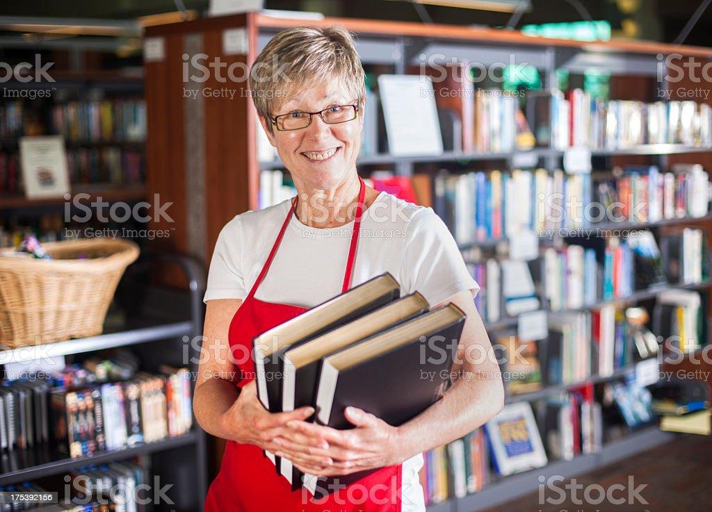 Volunteer Librarian royalty-free stock photo