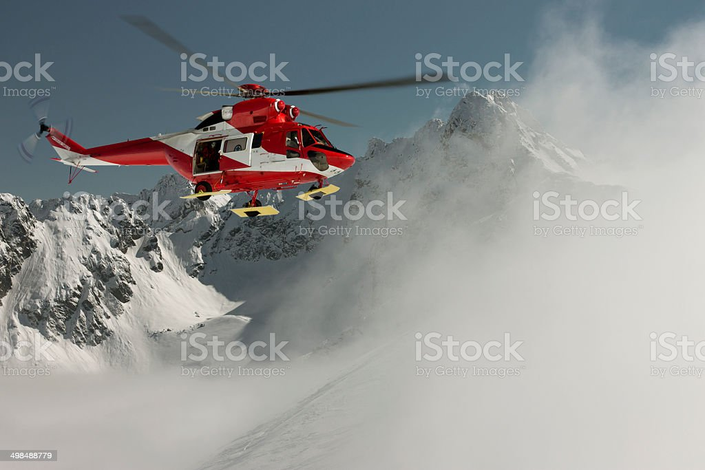 Volunteer Mountain Rescue Service stock photo