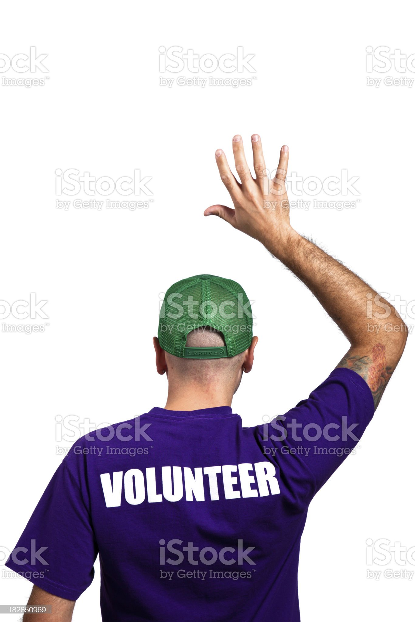 Volunteer royalty-free stock photo