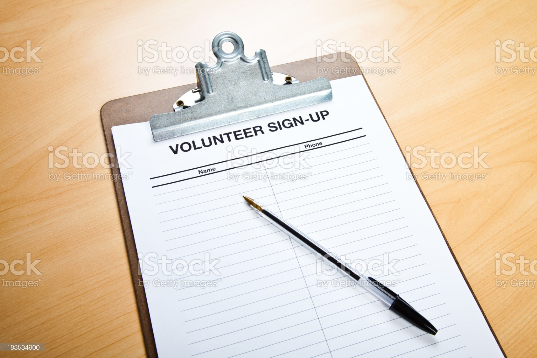 Volunteer Sign-Up royalty-free stock photo