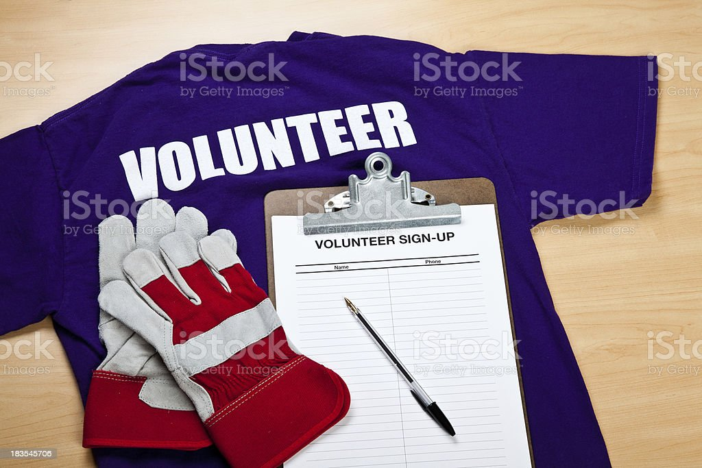 Volunteer Sign-Up stock photo