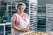 Volunteer with intelectual disability working at Bakery Workshop