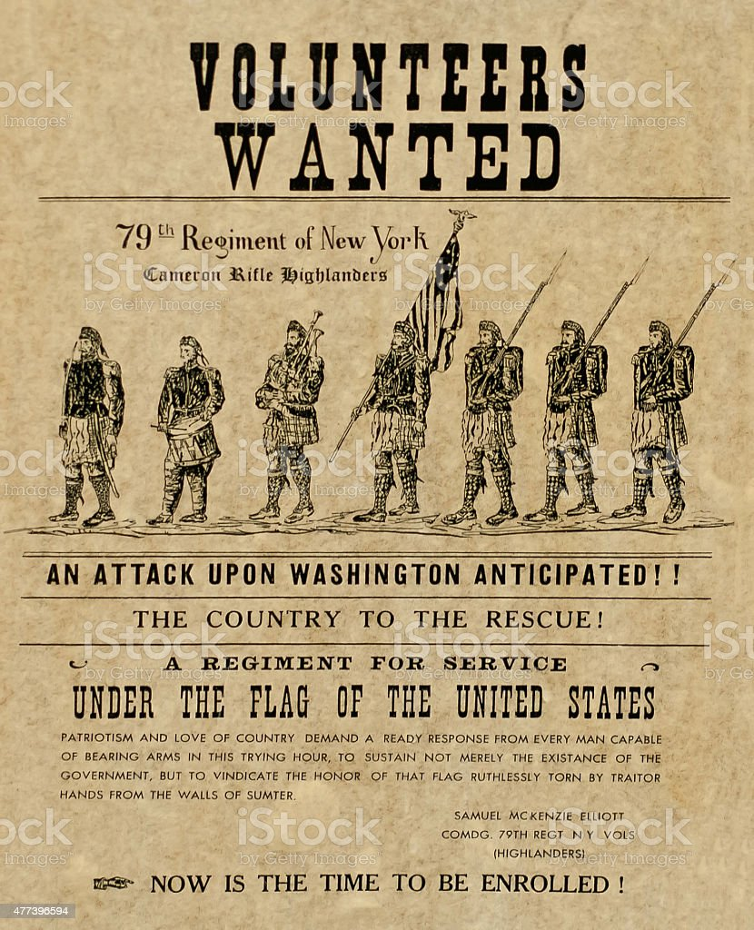 volunteers wanted poster stock photo