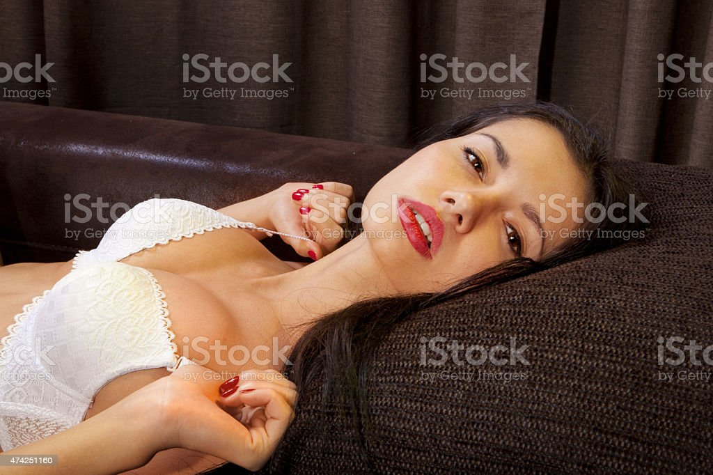 voluptuous girl stock photo