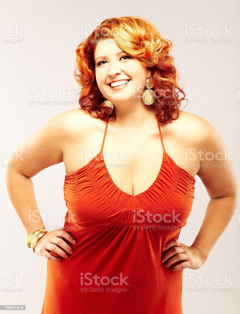 voluptuous redhead fashion model royalty-free stock photo