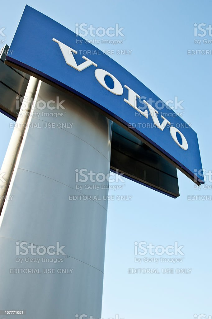 Volvo Dealership Outdoor Sign Vertical stock photo