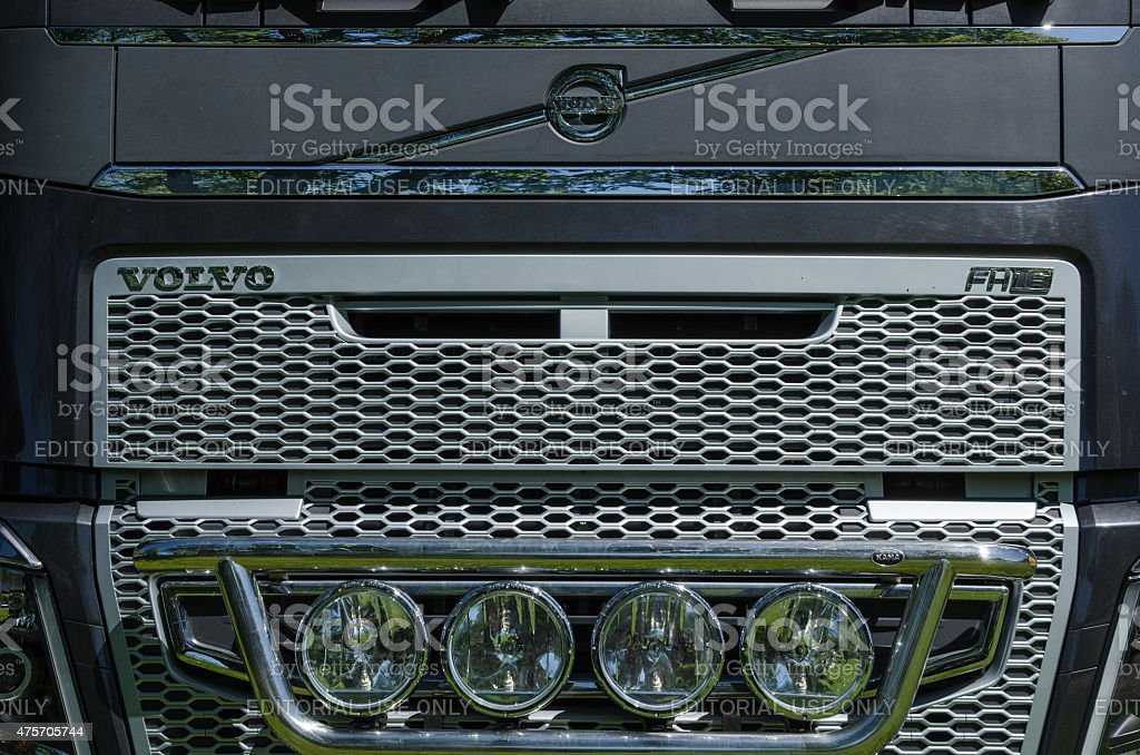 Volvo FH16 truck front stock photo