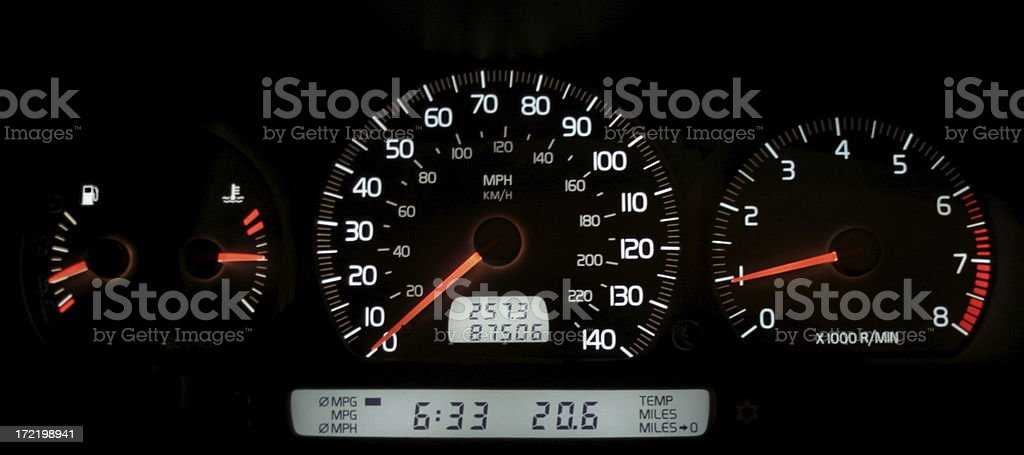 Volvo Instrument Cluster stock photo