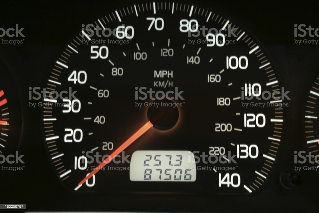 Volvo Speedometer royalty-free stock photo