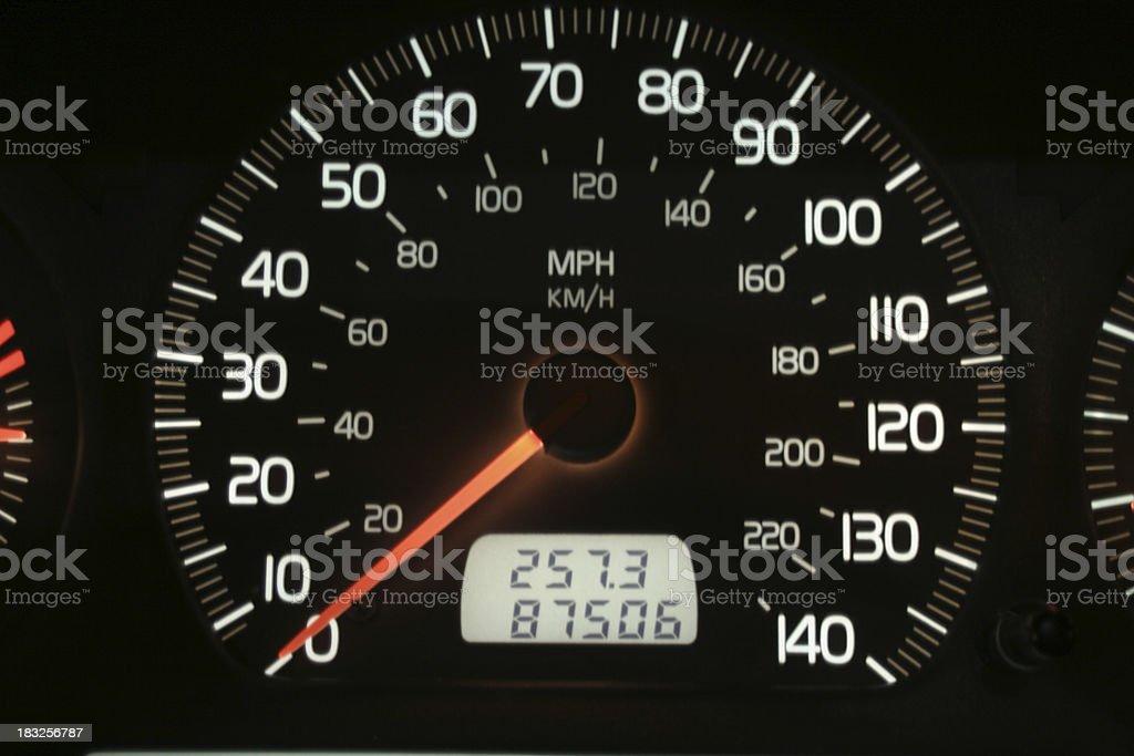 Volvo Speedometer stock photo