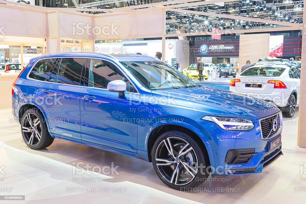 Volvo XC90 mid-size luxury crossover SUV stock photo