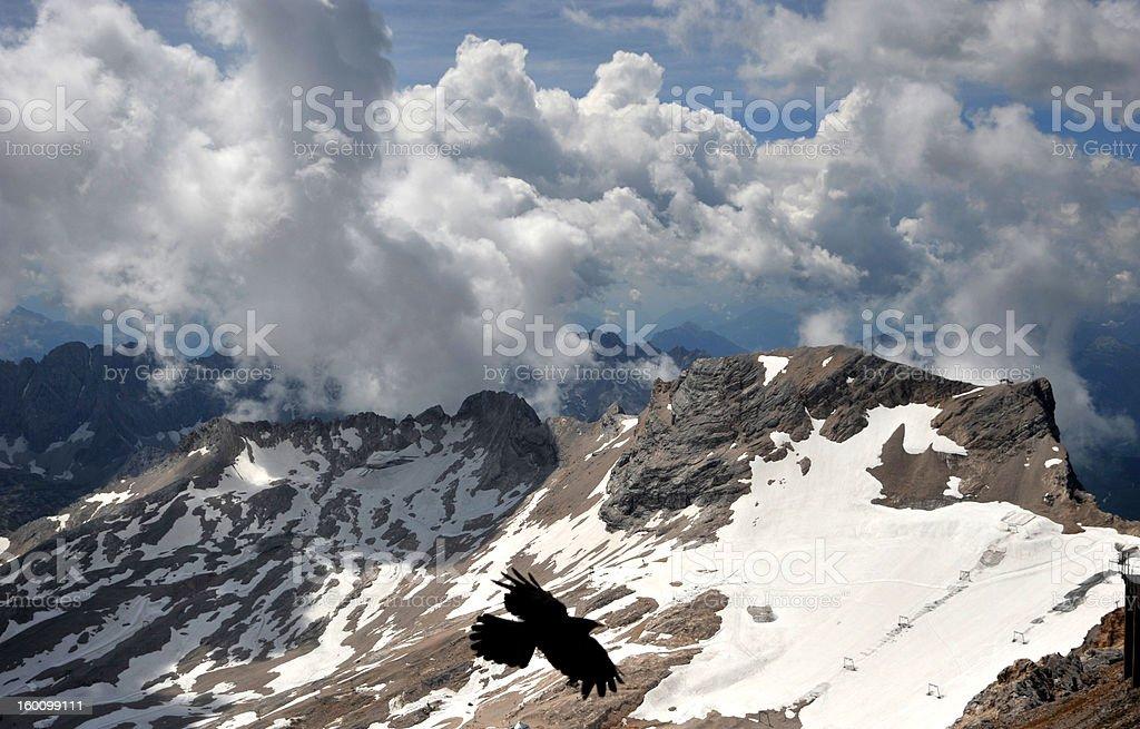 Vom Gipfel der Zugspitze royalty-free stock photo