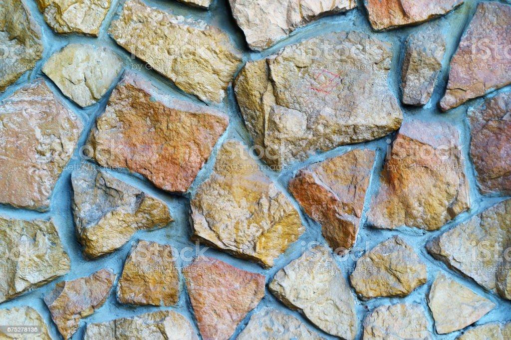 von. decorative wall stones stock photo