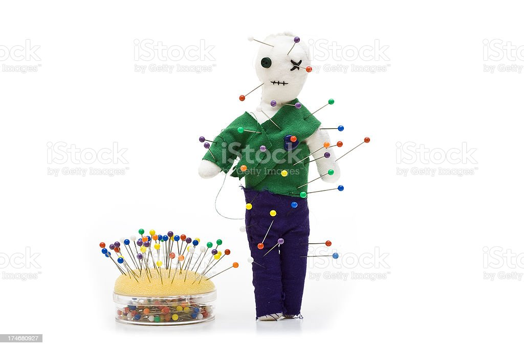 Voodoo and pins stock photo
