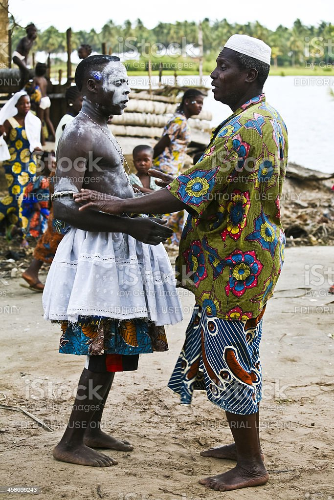 Voodoo ceremony. stock photo