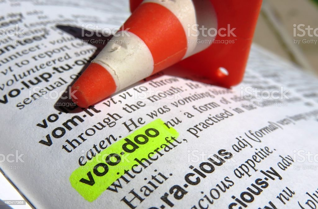 Voodoo - dictionary definition stock photo