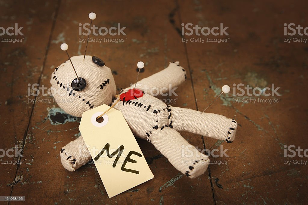 Voodoo Doll Marked 'Me' stock photo