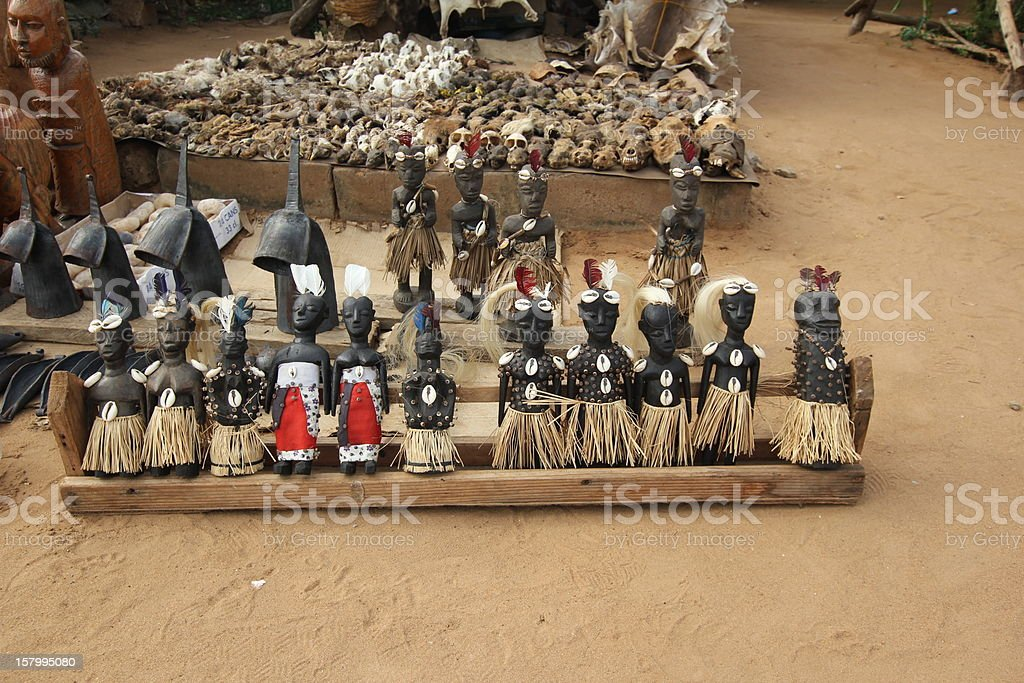 Voodoo Dolls at the Fetish Market in Lom?, Togo, Africa stock photo
