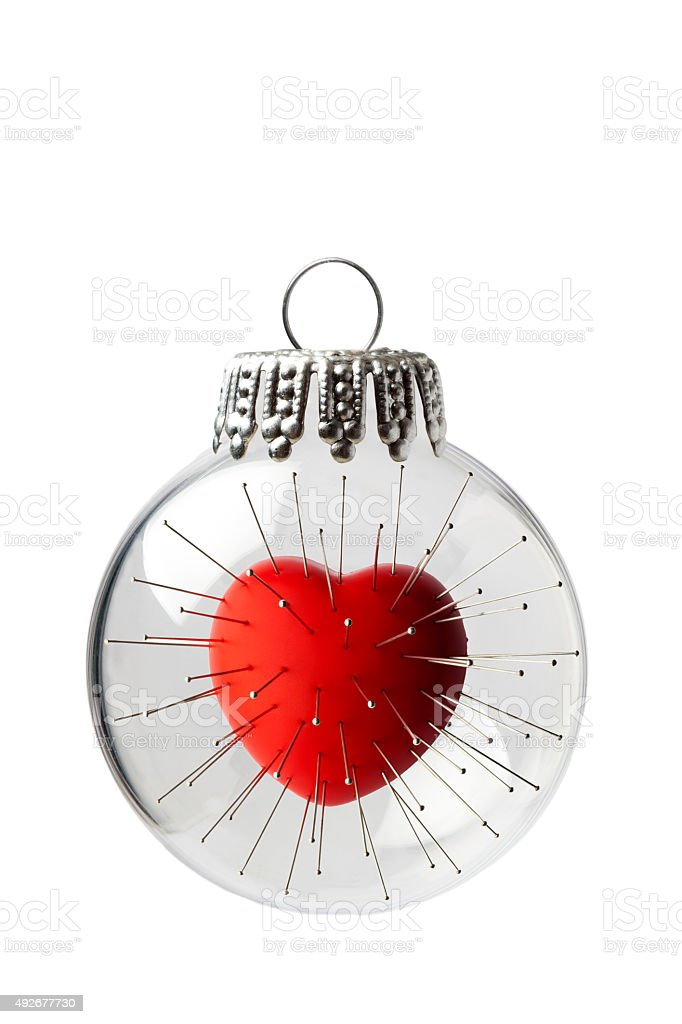 Voodoo Heart In a Christmas Ornament stock photo