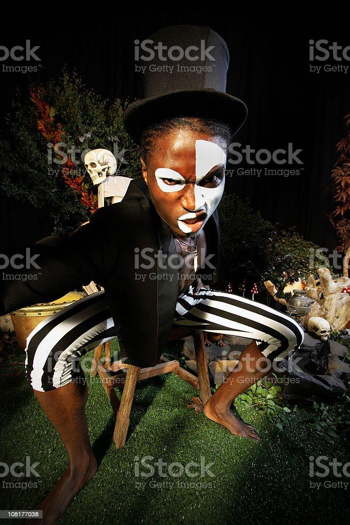 Voodoo Man Posing royalty-free stock photo