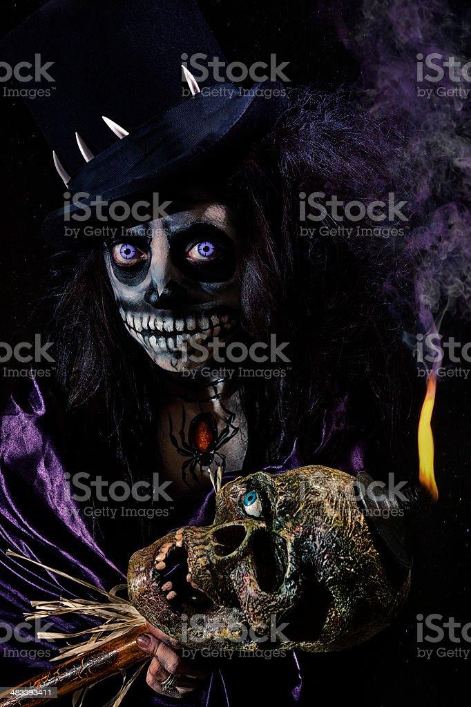 Voodoo Queen Working Her Magic stock photo