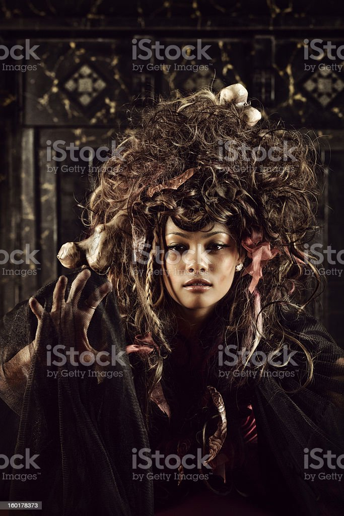 Voodoo woman stock photo
