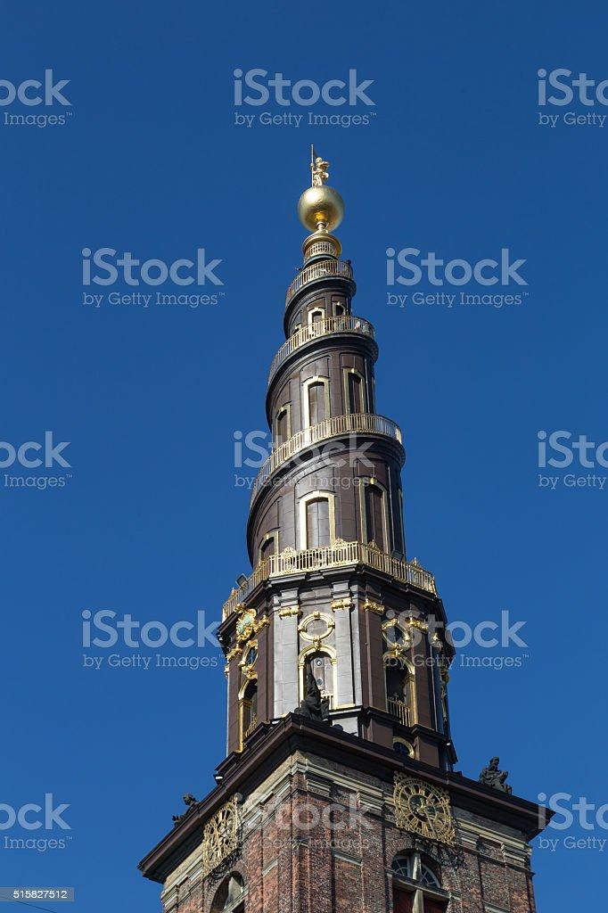 Vor Frelsers Kirke, Church of Our Saviour in Copenhagen, Denmark stock photo