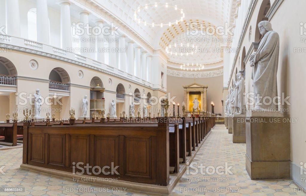 Vor Frue Cathedral in Copenhagen, Denmark stock photo