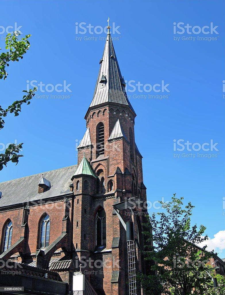 Vor Frue Kirke in Aarhus (Denmark) stock photo