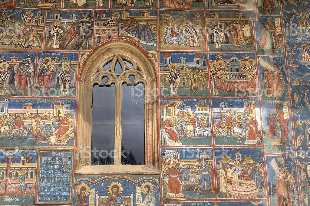 Voronet fresco detail royalty-free stock photo