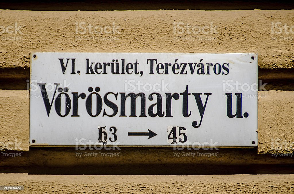 Vorosmarty Utca royalty-free stock photo