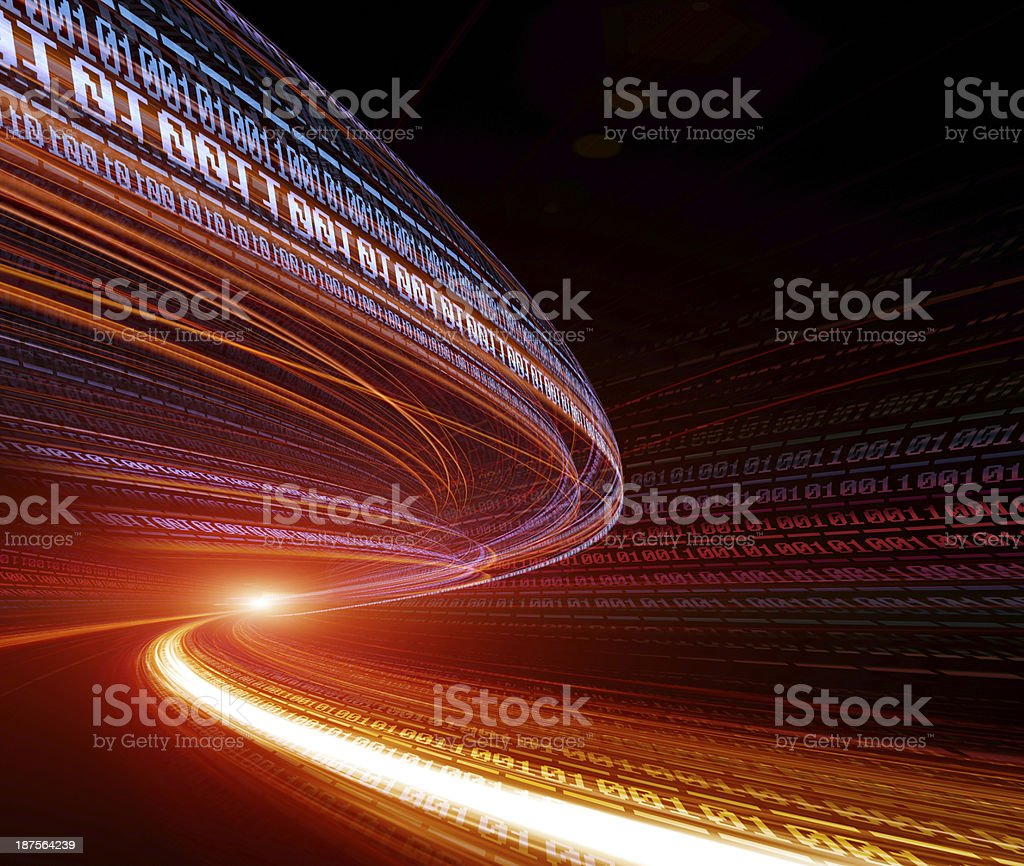 Vortex abstract on the subject of business transactions stock photo
