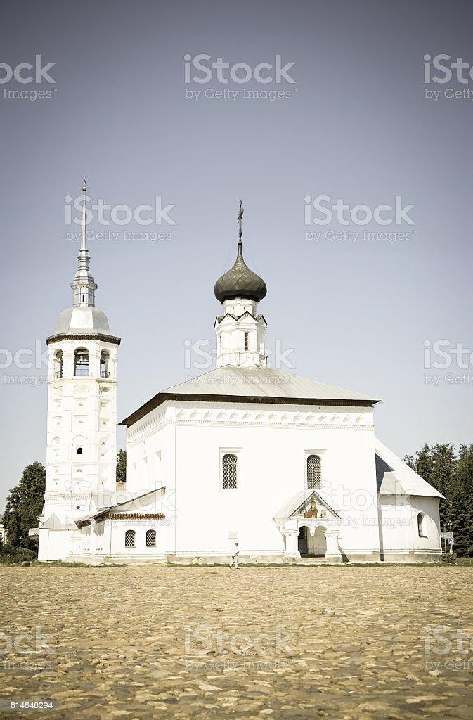 Voskresenskaya church  at Suzdal stock photo