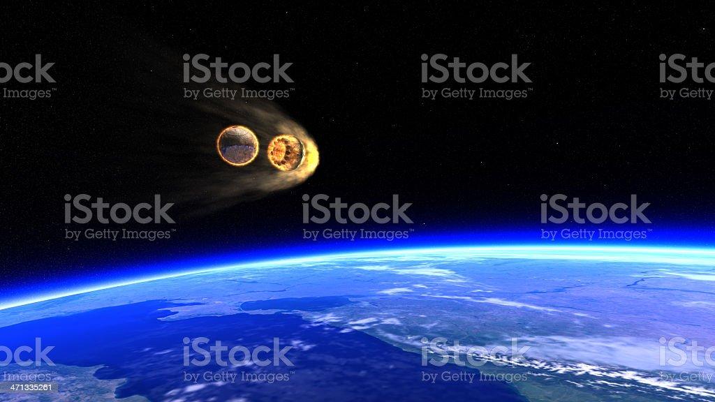 Vostok 1 - Reentry stock photo