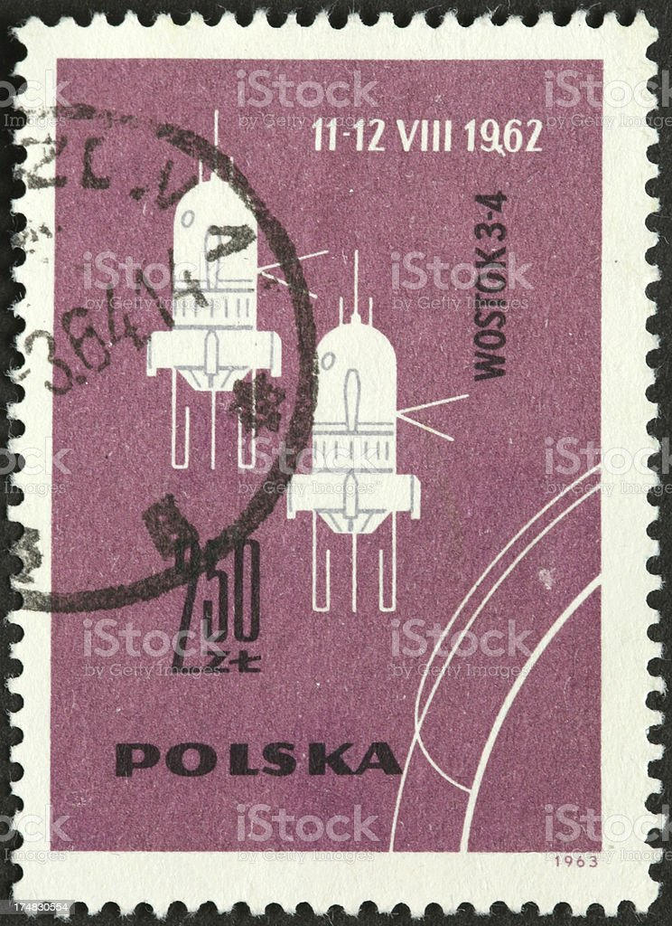 Vostok 3 and 4 Soviet manned space missions stock photo