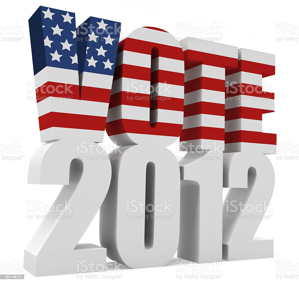 3D Vote 2012 Words royalty-free stock photo
