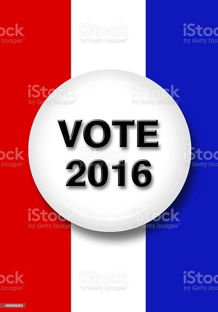 Vote 2016 royalty-free stock photo