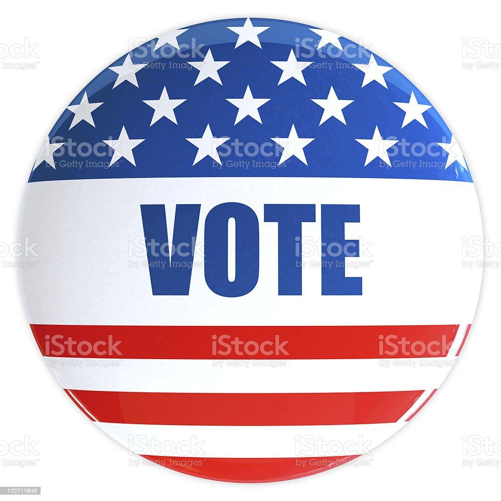 3D Vote Badge royalty-free stock photo