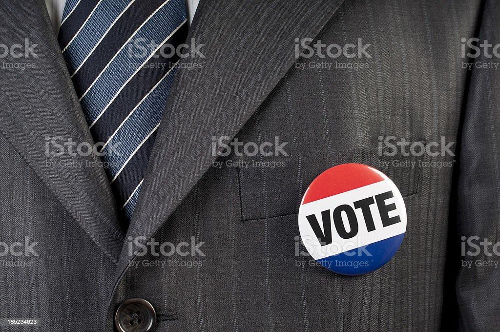 vote badge stock photo