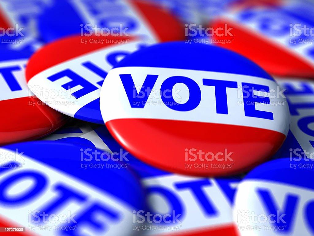 Vote Badges royalty-free stock photo