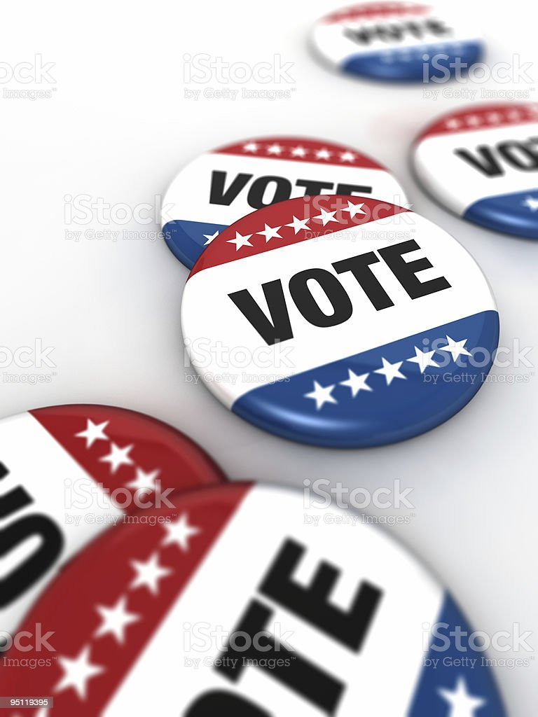 Vote Badges royalty-free stock photo